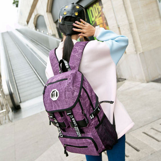Floral Print Canvas Schoolbags Backpacks - lilyby