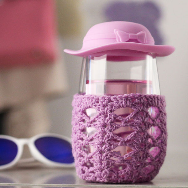Originality Lovley Hat Knitted Outerwear Transparent Glass Cup - lilyby
