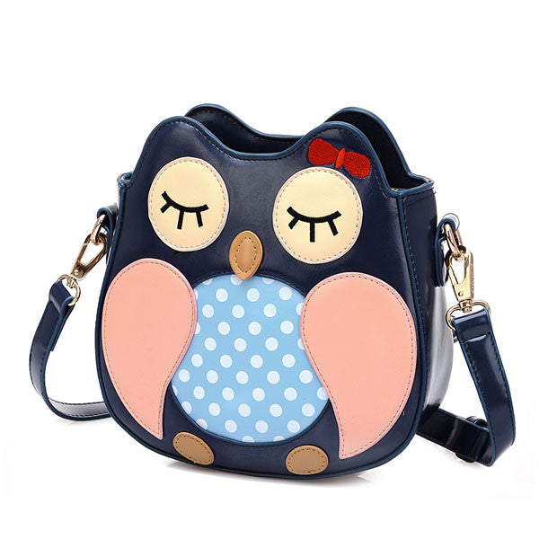 Adorable Owl Cartoon Shoulder Bag Messenger Bag - lilyby