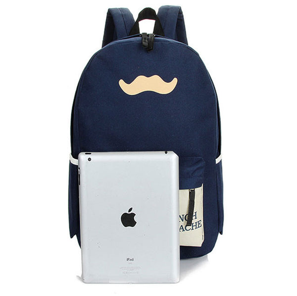Fresh Beard Pattern School BackpackTravel Bags - lilyby