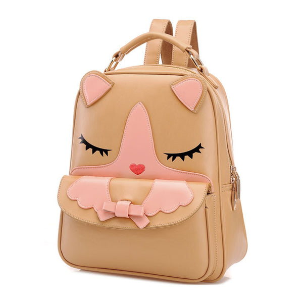 New Cute Cartoon Cat School Backpack - lilyby