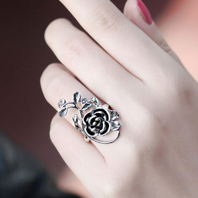 Graceful Rose Pattern Ring Valentine Gift - lilyby