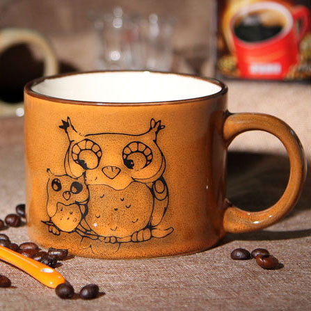 Retro Personality Hand-painted Ceramic Mug/Coffee Cup - lilyby