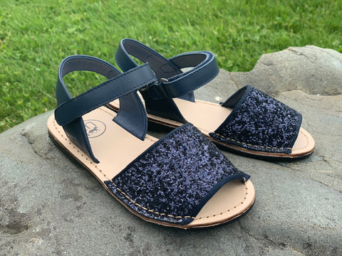 Sparkle Sandals in Navy