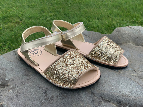 Sparkle Sandals in Gold