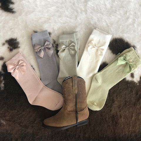 Boot Socks with Bow