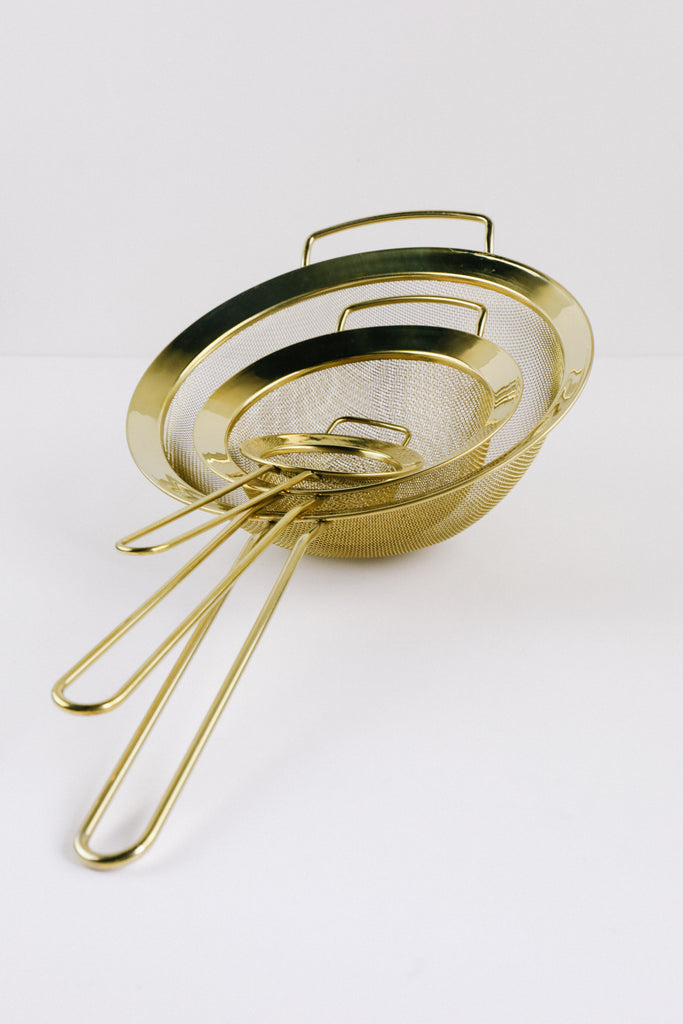 Gold Strainer Set
