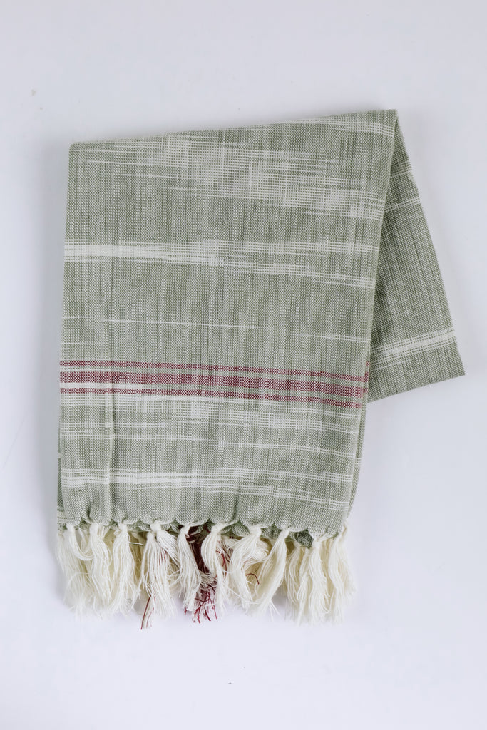 Woven Striped Tea Towel