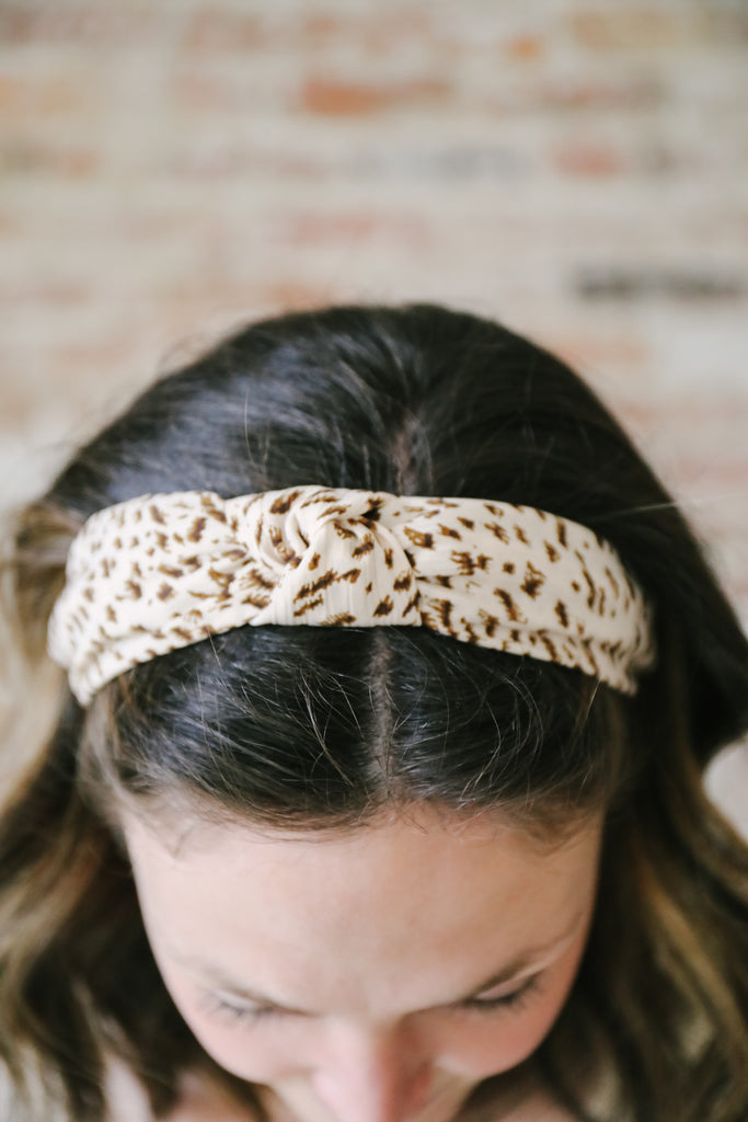Knotted Leopard Headband