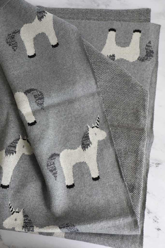 Unicorn Cotton Blanket