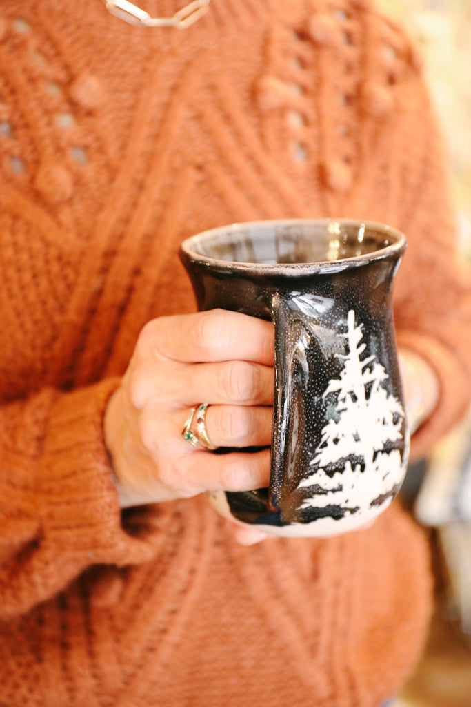 Forest Handwarmer Mug [Right Handed]
