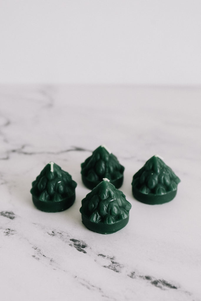 Mini Christmas Tree Tea Light Candles