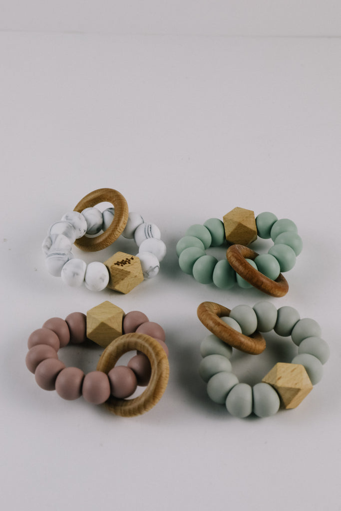 Wood Bead + Silicone Teether