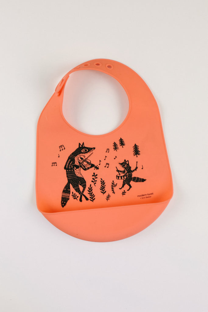 Fox Family Orange Bib