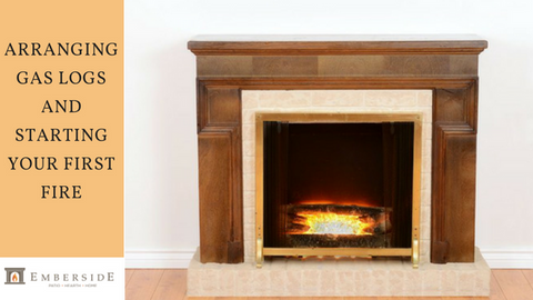 Light your gas fireplace for the the first time safely using these gas log fireplace instructions