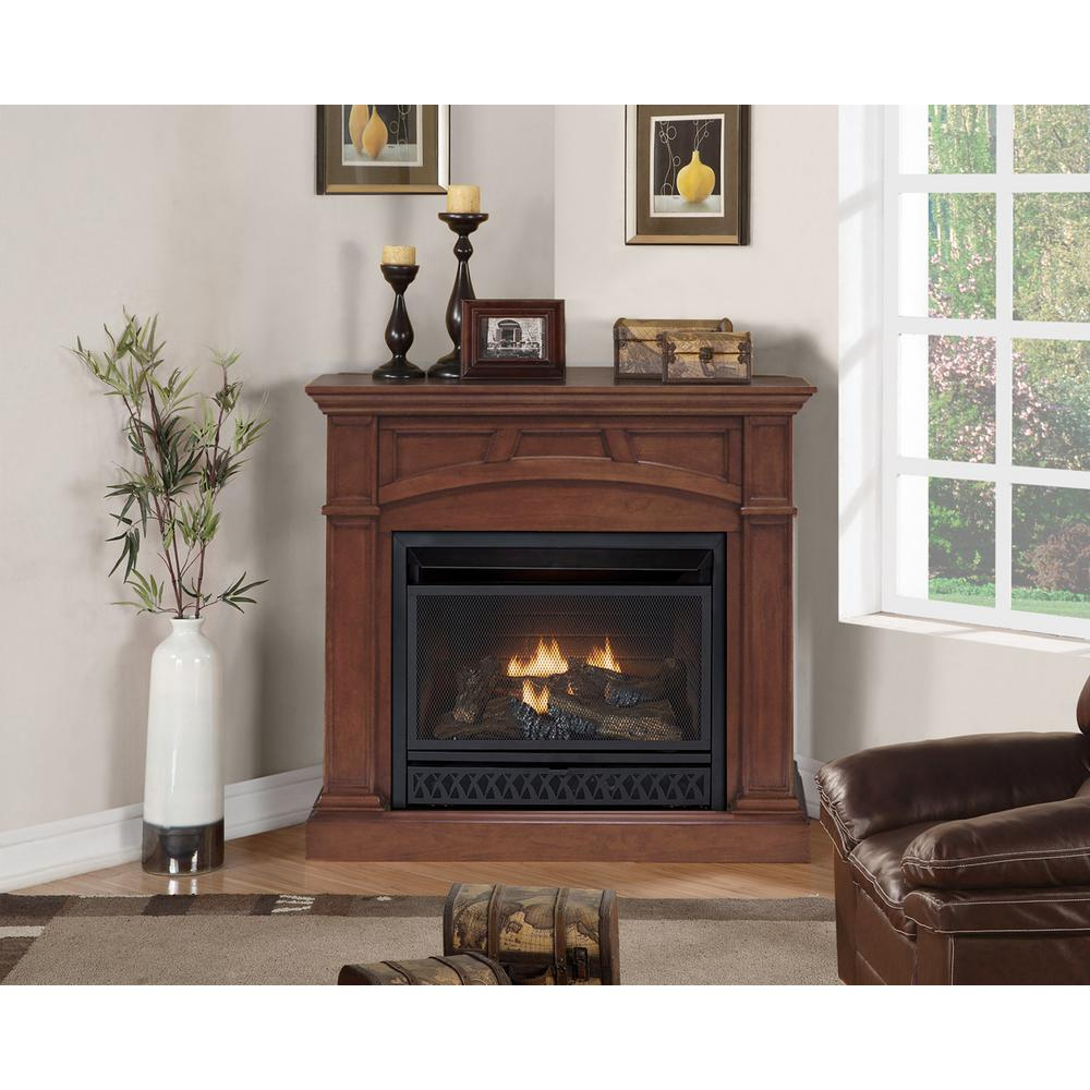 43 In Convertible Vent Free Gas Fireplace In Cherry With