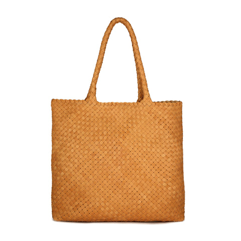 "Milaner ""The Anna"" Vachetta Woven Leather Handbag"