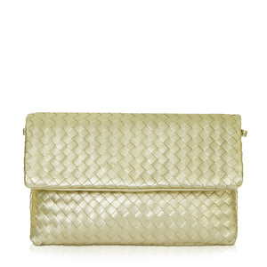 The Julia Woven Fold Over Clutch