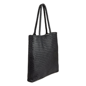 "Milaner ""The Anna"" Woven Leather Handbag"
