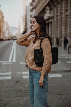 The Mini Elena Woven Handbag