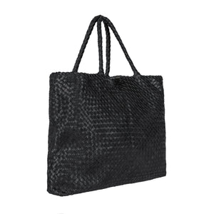 "Milaner ""The Elena"" Woven Leather Handbag"