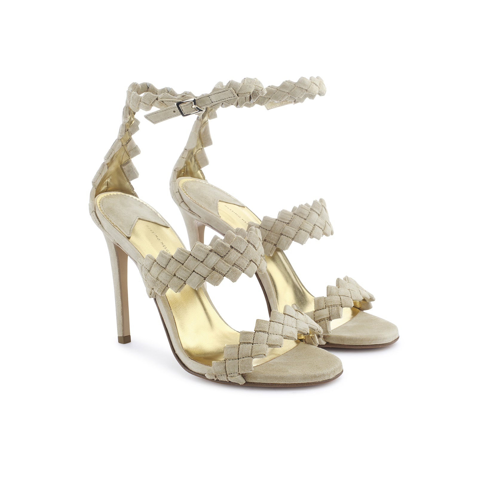 The Woven Heeled Sandal