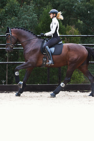 Judi Manche | Browband Famous Odessa Double Crystal AB - horses gallop