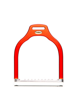Steffa Wave Dressage Stirrup (Matte Red)