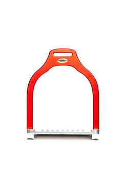 Steffa Wave Jump Stirrup (Matte Red)