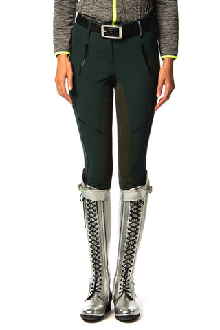 Image of the custom riding boot: Adiano Full Suede Breeches (Green Woods)