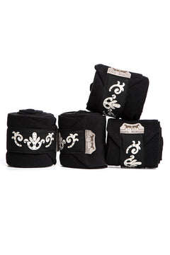 Marta Morgan Fleece Bandages (Black Fleece with a Swarovski Detail)