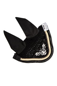 Marta Morgan Swarovski Fly Ears (Black with a beige trim and Swarovski Detail)
