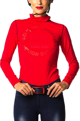 Image of the custom riding boot: Bonzai Performance Polo Shirt (Red Pepper)