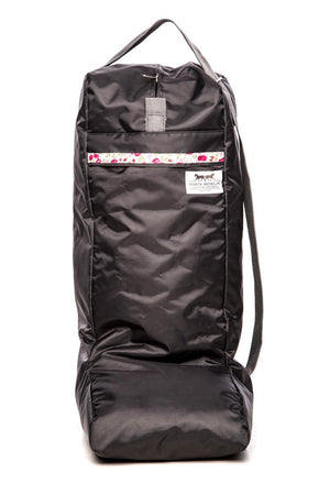 Marta Morgan Boot Bag (Grey with Pink Floral Trim)