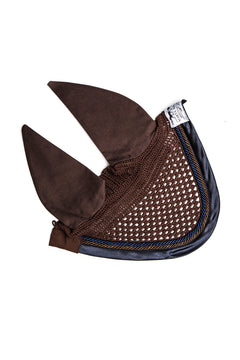 Marta Morgan Fly Ears (Chocolate Brown with a Navy Satin Trim)