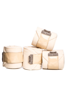 Marta Morgan Fleece Bandages (Cream Fleece with a Patent Trim)