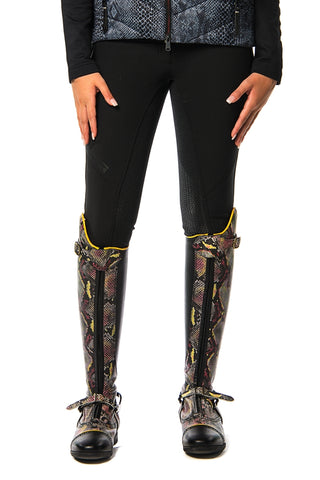 Image of the custom riding boot: Goldino Silicon Seat Breeches (Black Night)
