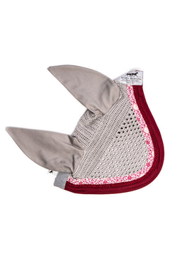 Marta Morgan Fly Ears (Grey with a Pink Floral and Maroon Trim)