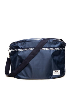 Marta Morgan Grooming Bag (Blue with a Blue Tartan Trim)