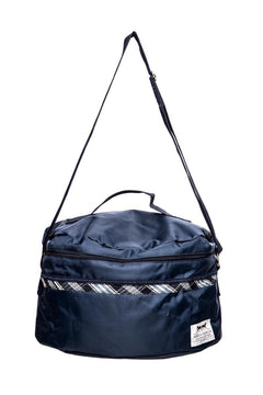 Marta Morgan Helmet Bag (Blue with a BlueTartan Trim)