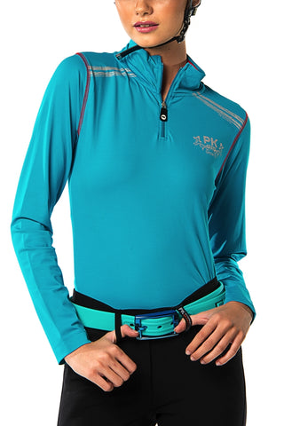 Image of the custom riding boot: Interes Performance Polo Shirt (Capri Blue)