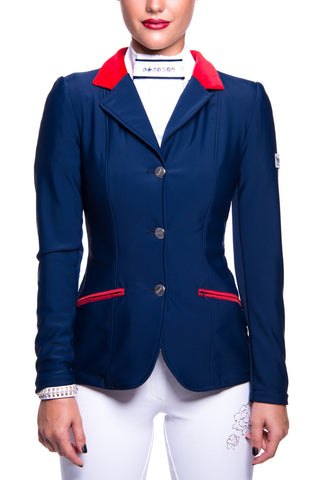 Image of the custom riding boot: J-Evelyn Competition Jacket (Blue)