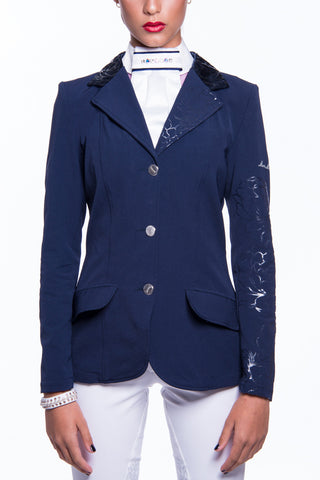 Image of the custom riding boot: J-Margot Competition Jacket (Blue)