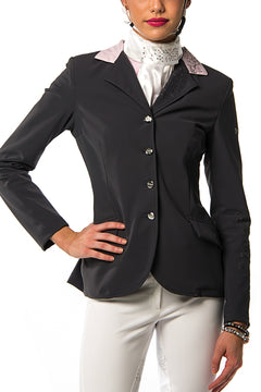 J-Margot Peony Competition Jacket (Grey/Pink)