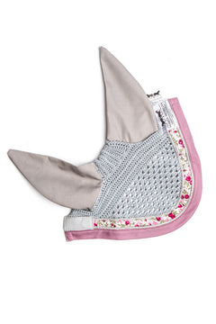 Marta Morgan Fly Ears (Light Grey with a Floral and Pink Trim)