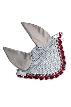 Marta Morgan Fly Ears (Grey with a Tartan and Bordeaux Trim)