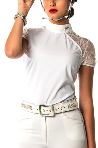 Image of the custom riding boot: Naomi Polo Competition Shirt (White)
