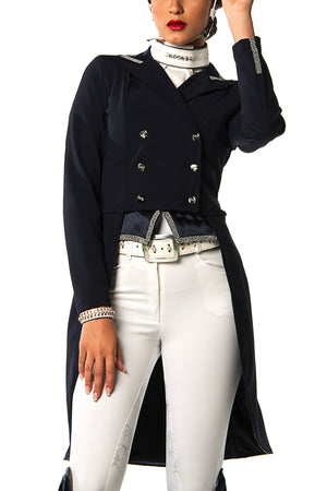 D - Grace Frac Competition Jacket (Navy Blue with Swarovski Trim Jacket)