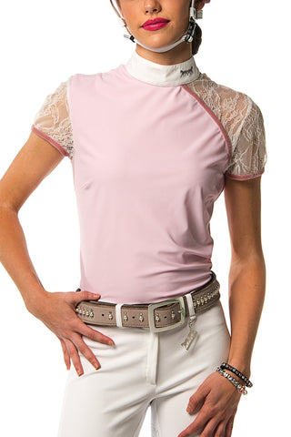 Image of the custom riding boot: Naomi Polo Competition Shirt (Pale Pink)