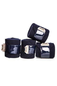 Marta Morgan Fleece Bandages (Navy Fleece with a Patent Trim)